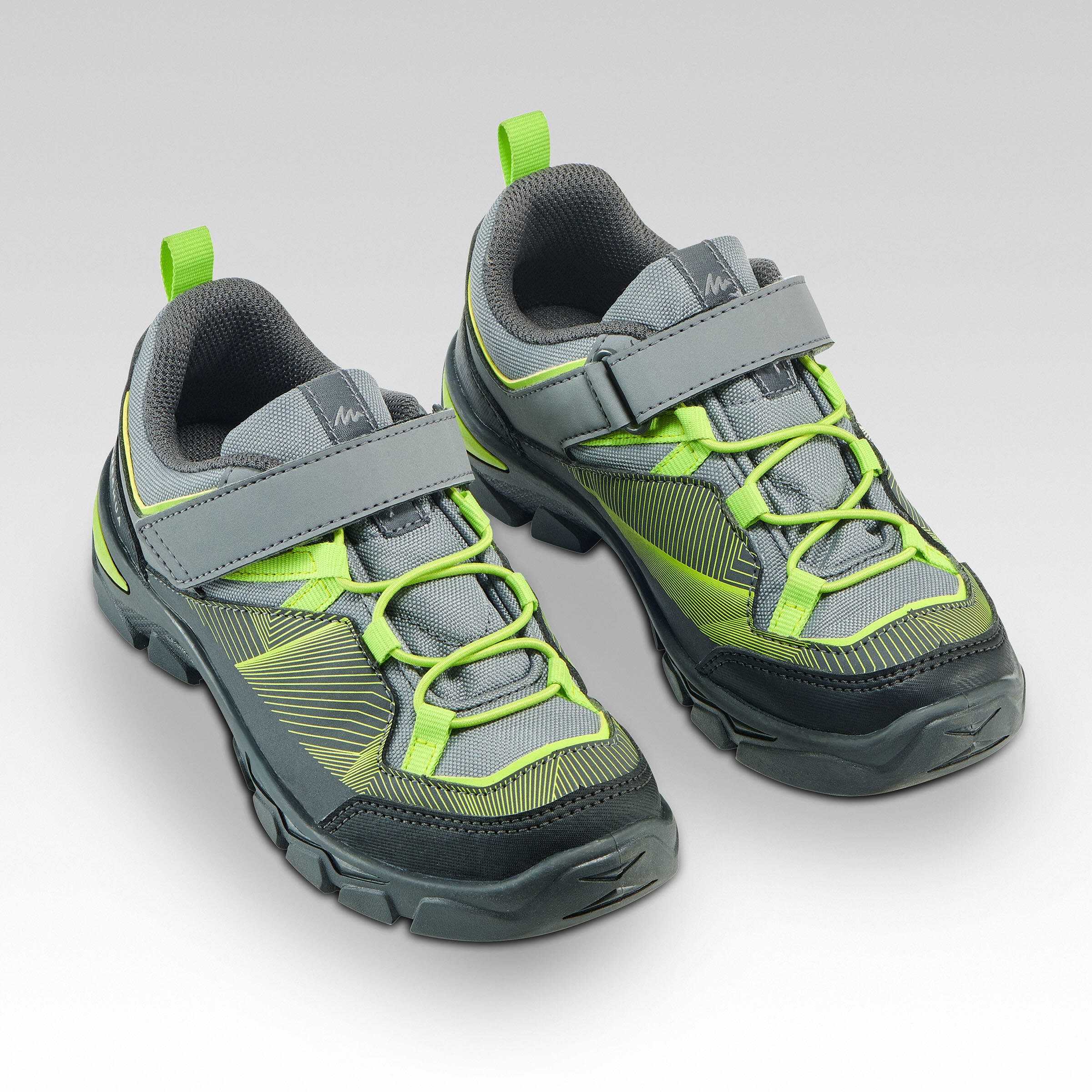 Kids' Velcro Hiking Shoes MH120 LOW 28
