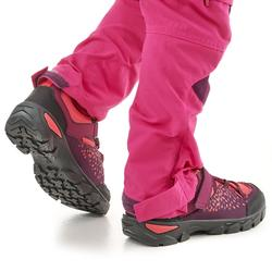 Kids' Velcro Hiking Shoes MH120 LOW 28 to 34 - Purple
