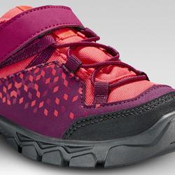 Chaussures de randonnée enfant basses avec scratch MH120 LOW violettes 28 AU 34