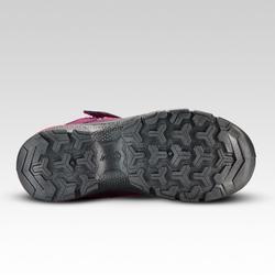 Zapatillas de montaña niños talla 28 A 34 tira autoadherente MH120 violeta