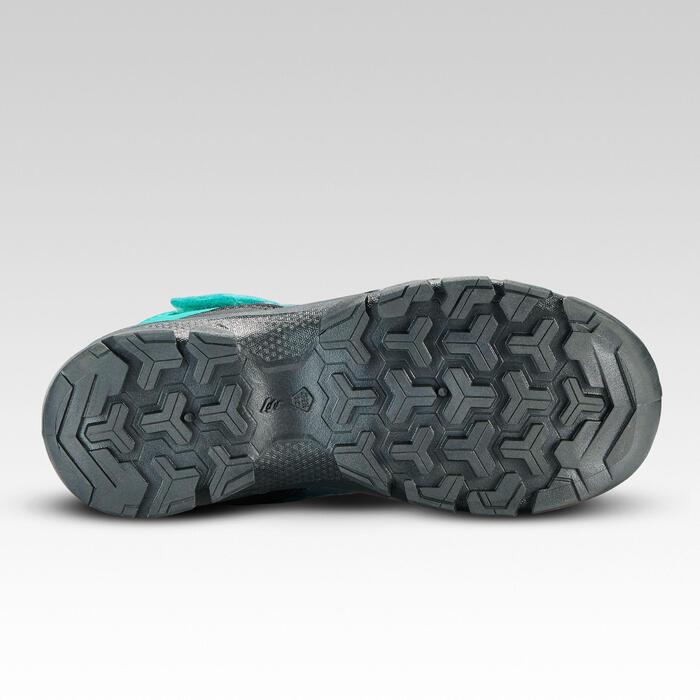 Botas de montaña niños talla 28-34 impermeable autoadherente MH120 turquesa