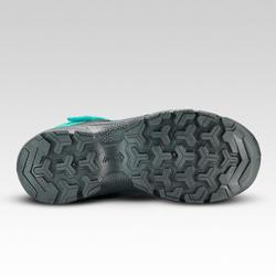 Chaussures de randonnée enfant montantes scratch MH120 MID turquoise 28 AU 34