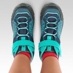 Chaussures imperméables de randonnée - MH120 MID turquoises - enfant 28 AU 34