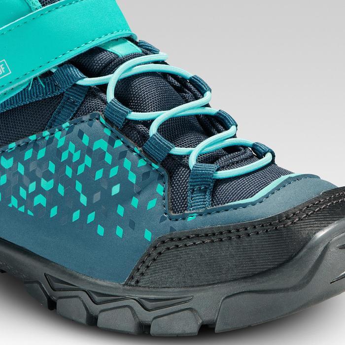Hoge wandelschoenen voor kinderen MH120 mid turquoise 28 tot 34