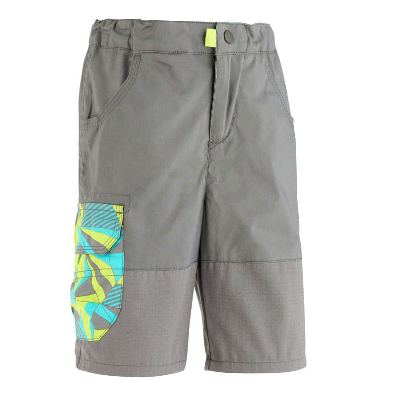 TS SHORT JKT & PANTS BOY 2-6 Y Hiking - MH500 KID BOY'S SHORTS -GREY QUECHUA - Hiking Clothes