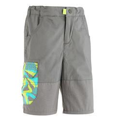 Pantalón corto de senderismo júnior MH500 gris 2 A 6 AÑOS
