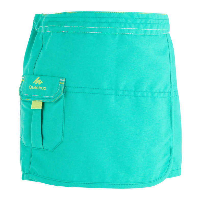 TS SHORT JKT & PANTS GIRL 2-6 Y Hiking - MH100 Kids' Skort - Turquoise QUECHUA - Hiking Clothes