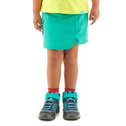 Jupe short de randonnée enfant MH100 turquoise 2 A 6 ANS