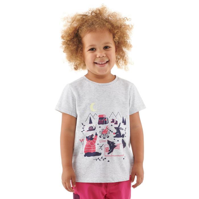 T-Shirt Wandern MH100 Kinder grau meliert