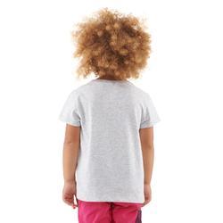 T-shirt de randonnée enfant MH100 gris chiné