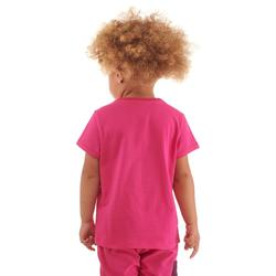 T-shirt de randonnée enfant MH100 rose