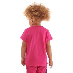 Wandelshirt voor kinderen MH100 roze