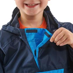 Waterdichte wandelcape voor kinderen MH100 marineblauw