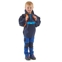 Poncho imperméable de randonnée MH100 KID bleu marine - enfant