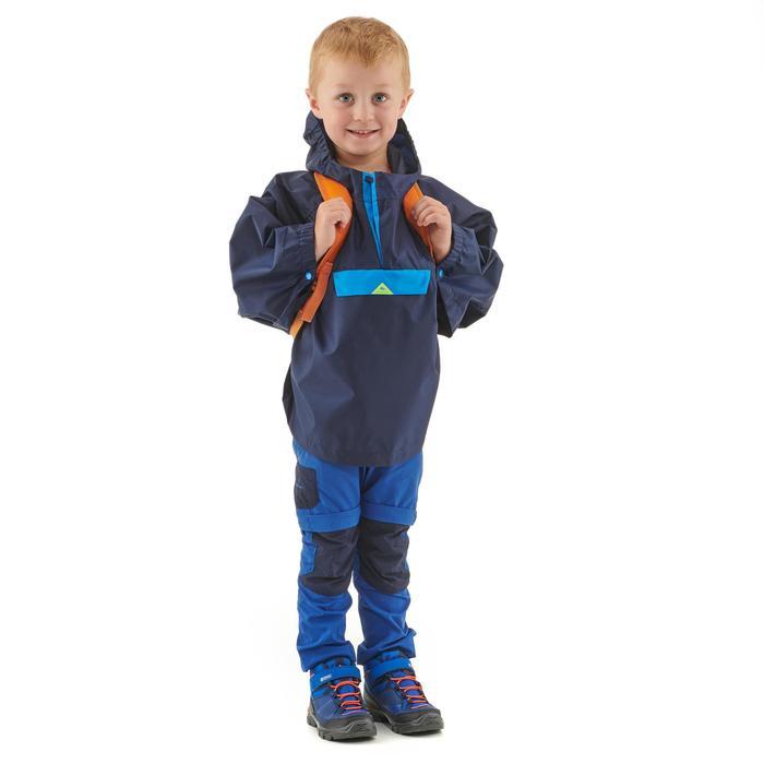 Waterdichte wandelponcho voor kinderen MH100 marineblauw