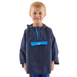 Regenponcho voor wandelen kinderen MH100 marineblauw 2-6 jaar