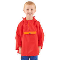 Kids' Waterproof Hiking Poncho - MH100 Aged 2-6 - Red