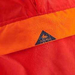 Poncho imperméable de randonnée - MH100 rouge - enfant 2-6 ANS