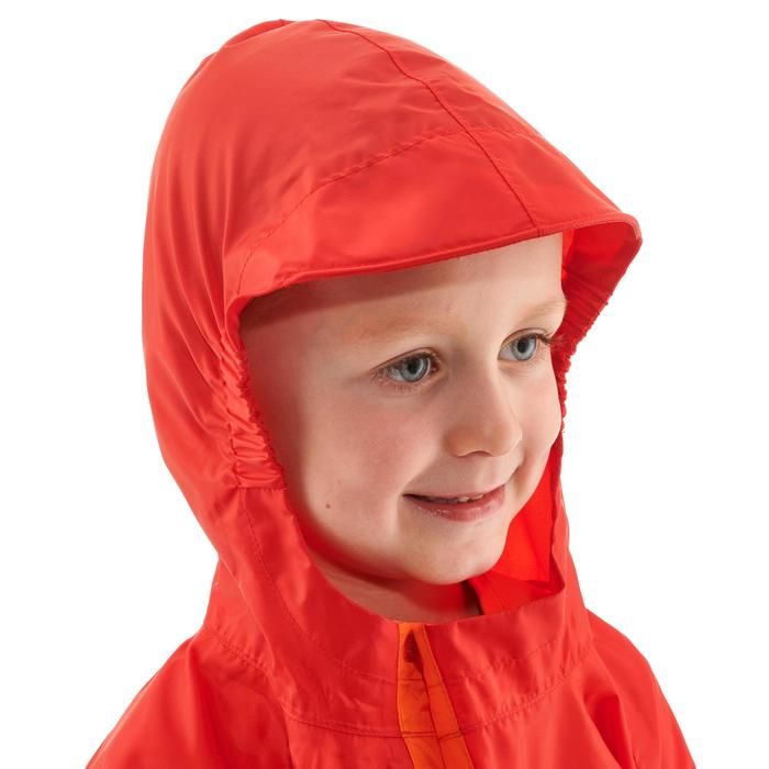 Kinder regenponcho voor wandelen MH100 rood