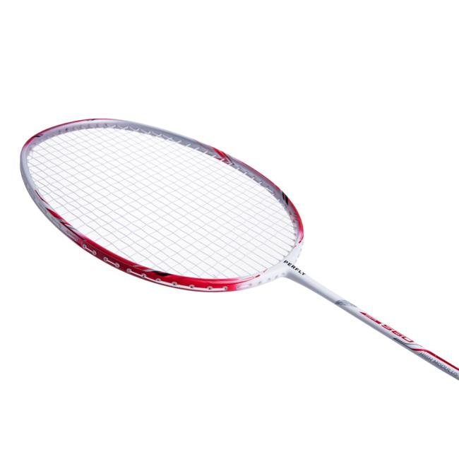ADULT BADMINTON RACKET BR 560 LITE WHITE RED