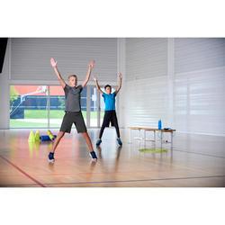 Sporthose kurz atmungsaktiv W900 Gym Kinder kaki
