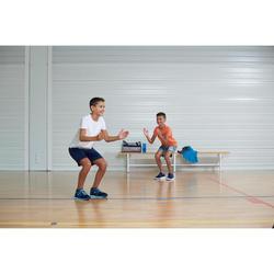 Sporthose kurz 100 Gym Kinder grau meliert