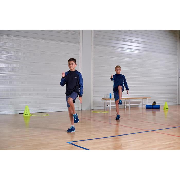 Short synthétique respirant S500 garçon GYM ENFANT bleu