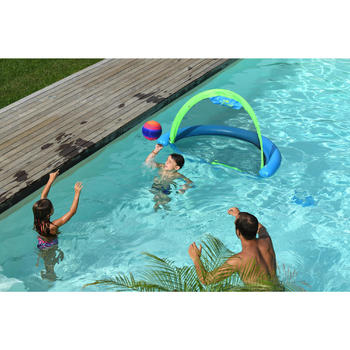 Grote zwembadbal oranje blauw