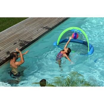 Grand ballon piscine orange bleu