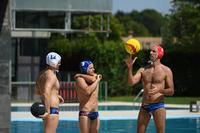 MEN'S WATER POLO SWIMMING BRIEFS - MCROSS BLUE