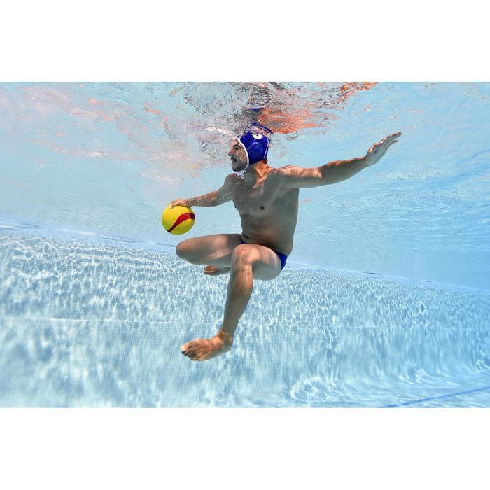 Badehose Water Polo 500 Wasserball Herren Uni blau