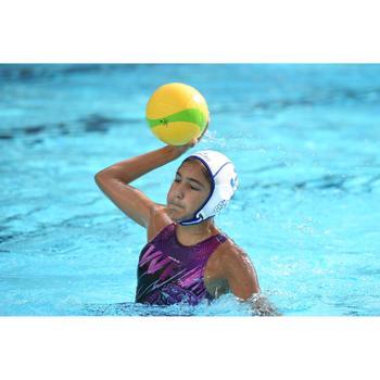 Badeanzug Wasserball 500 Mädchen Panther violett