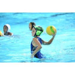 Waterpolobadpak 500 voor meisjes blauw