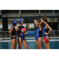 Bañador Waterpolo Piscina Nabaiji Panther Mujer Cremallera Espalda Azul Marino