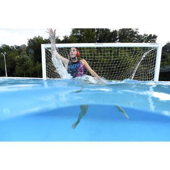 Badeanzug Wasserball 500 Panther Damen schwarz