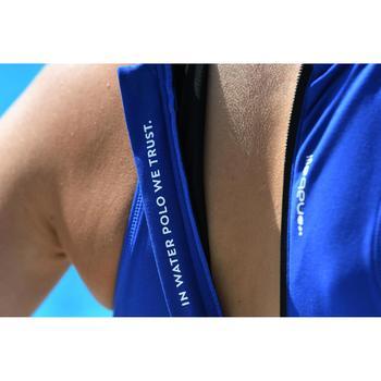 Bañador Waterpolo Piscina Nabaiji Clásico Mujer Cremallera Espalda Azul Marino