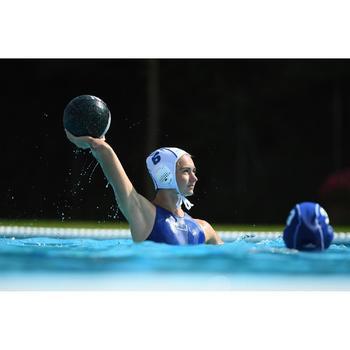 MAILLOT BAIN WATER POLO 500 FEMME UNI BLEU