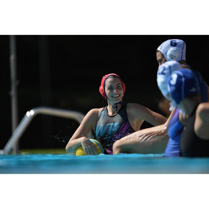 Bañador Waterpolo Piscina Nabaiji Panther Mujer Cremallera Espalda Estampado WP