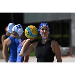 Bañador Waterpolo Piscina Nabaiji Clásico Mujer Cremallera Espalda Negro Retro