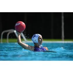 Bañador Waterpolo Piscina Nabaiji Panther Mujer Cremallera Espalda Morado Azul