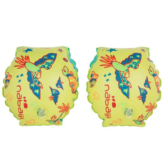 """Blauwe opblaasbare zwembandjes met print """"Zebro"""" 11-30 kg - 156454"""