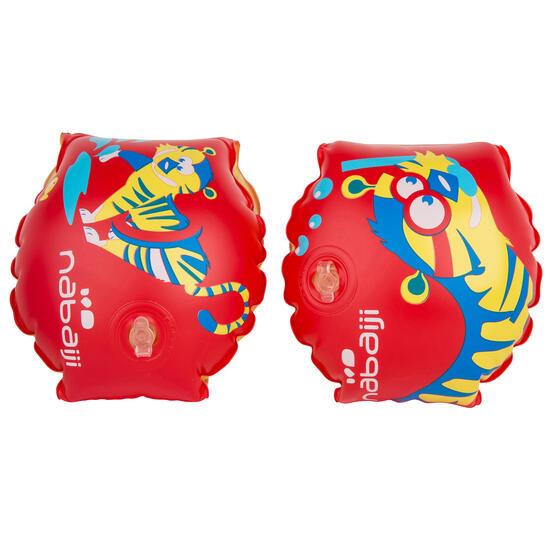 """Blauwe opblaasbare zwembandjes met print """"Zebro"""" 11-30 kg - 156455"""