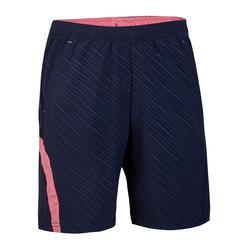 Kindershort 560 marineblauw roze
