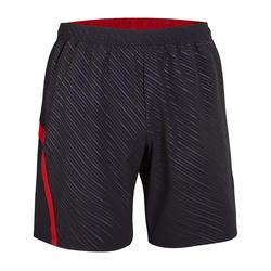 Pantalón corto de bádminton perfly 560 hombre negro y rojo