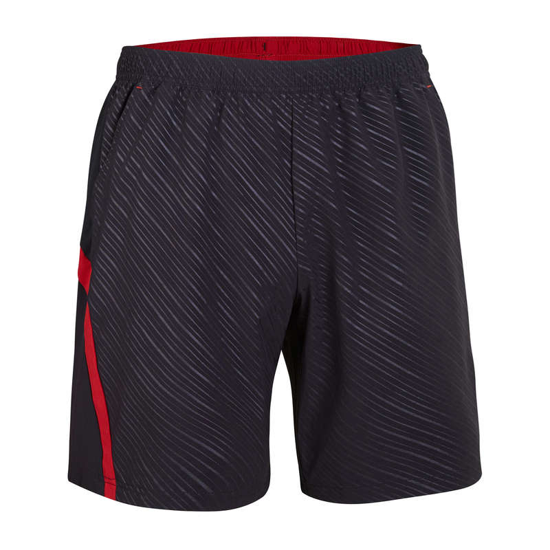 MEN'S INTERMEDIATE BADMINTON APPAREL Badminton - Shorts 560 M BLACK RED PERFLY - Badminton Clothing