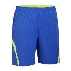 Pantalón corto de bádminton perfly 560 hombre azul y amarillo
