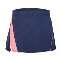 Falda de bádminton perfly 560 mujer azul y rosa