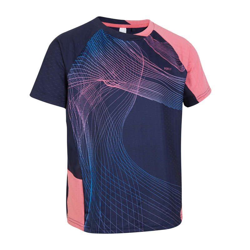 HABILLEMENT BADMINTON JR Sport Bambino - T-shirt bimba 560 blu-rosa PERFLY - Sport Bambino