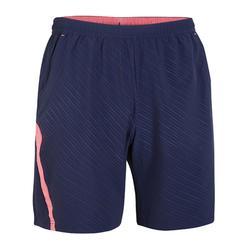 Pantalón corto de bádminton perfly 560 hombre negro y rosa