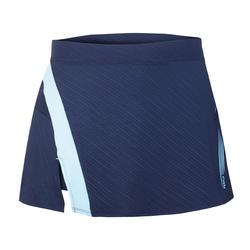 Falda de bádminton perfly 560 mujer azul marino